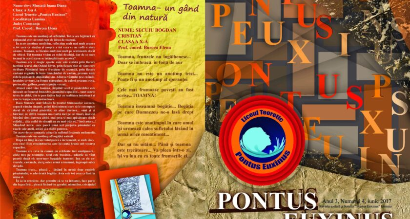 """Revista liceului """"Pontus Euxinus"""" – Numărul 4"""