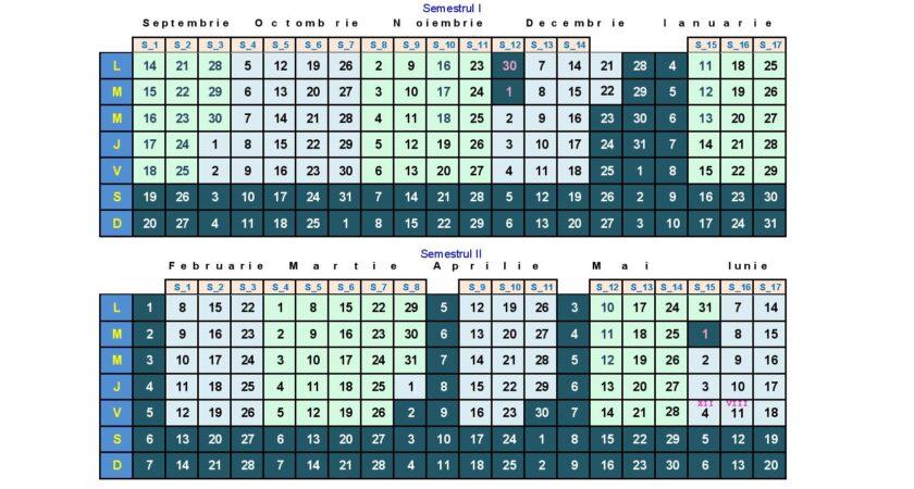 Calendar an școlar 2020-2021