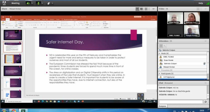 Întâlnire cu partenerii eTwining cu ocazia Zilei Siguranței pe internet