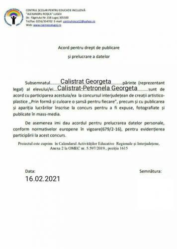 Acord Calistrat Petronela